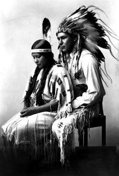Bannock couple - circa 1920