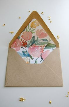 downloadable floral liner-- maybe paired with minimalist invitation- but with a grey envelope?