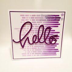 Got Joy Creations - by Dana Joy: Hello Beautiful - Playing with stencils and fun fo...