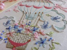 Transfered Embroidery Kits:Flight of Fancy by MaggieGeeNeedlework