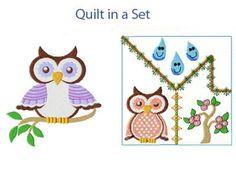 Spring Owls Machine Embroidery Designs http://www.designsbysick.com/details/springowl