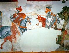 Fresco in Schloss Rodenegg, Rodengo, Italy (1215-1220)