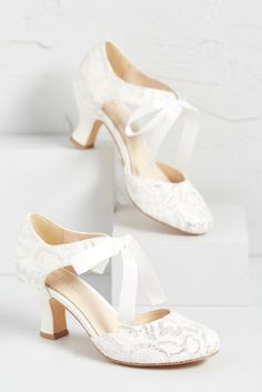 wedding shoes comfortable Elegant Expectations Lace Bridal Heel - Chic Vintage Brides : Chic Vintage Brides You are in the right place about diy wedding projects Here we Fall Wedding Shoes, Wedding Shoes Heels, Lace Heels, Bride Shoes, Wedding Rings, Cake Wedding, Wedding Venues, Shoes For Brides, Outdoor Wedding Shoes