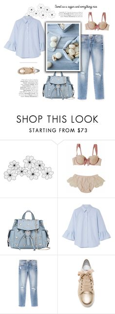 """Sweet as a sugar"" by little-vogue on Polyvore featuring WALL, RED Valentino, Marc Jacobs, Frame, Lanvin, Blue, pastels, fashionset and polyvoreeditorial"