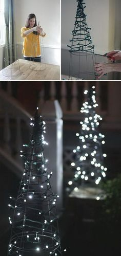 20 Festive String and Fairy Light Decoration Ideas for Christmas
