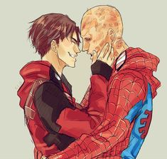 Wade Wilson and Peter Parker Deadpool and Spiderman Spideypool