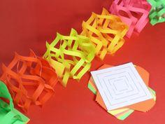 """Képtalálat a következőre: """"origami csőr hurkapálcikára felszúrt formája"""" Folded Paper Stars, Planet Crafts, Diy Girlande, Diwali Diy, Rainbow Paper, Paper Chains, Christmas Paper Crafts, Diy Papier, School Decorations"""