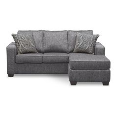 Coaster Gus Charcoal Chenille Upholstery Small Sectional