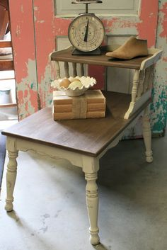 I picked up this two-tiered, vintage table at a yard sale a long time ago and it sat in my living room for too many months, as I tried to f...