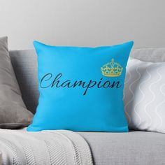 'Vintage Champion Design With Graphic Crown' Throw Pillow by Kings Crown, Vintage Champion, Designer Throw Pillows, Pillow Design, My Arts, Vibrant, Art Prints, Printed, Awesome