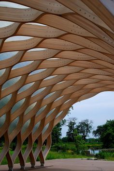 Top Roofing Tips To Remember - Roofing Design Guide - South Pond Pavilion, Lincoln Park, Chicago. Inspiration for the pavilion came from the tortoises th - Timber Architecture, Parametric Architecture, Pavilion Architecture, Parametric Design, Organic Architecture, Amazing Architecture, Architecture Design, Timber Structure, Shade Structure