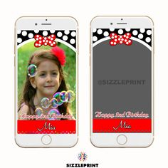 MINNIE MOUSE GEOFILTER  Plus Family & Friends Message | Custom Personalized Snapchat Geofilter | Girl  Birthday Party | Minnie Mouse Party by SizzlePrint on Etsy