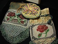 VINTAGE GLASS BEADED BAG COLLECTION - LOT OF 3