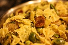 Chicken Sausage and Brussels Sprouts Pasta...a one dish wonder