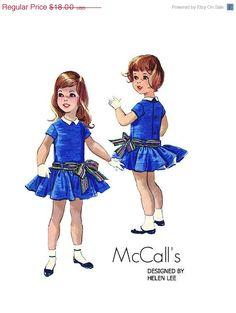 Vintage McCalls 4904 Designer Helen by PinkPolkaDotButton Vintage Kids Clothes, Vintage Girls Dresses, Little Girl Dresses, Vintage Outfits, Vintage Fashion, Vintage Dress, Vintage Children, Vintage Clothing, Kids Clothes Patterns