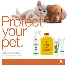 Not just for humans, our Aloe products work for your furry friends also. Visit…