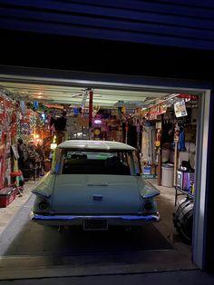Night time Mopar garage Plymouth Valiant, Adriana Lima, Mopar, Night Time, Garage, Scene, Street, Pictures, Carport Garage