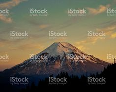 Mount Saint Helens at Sunset Before the Eruption royalty-free stock photo