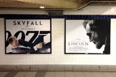 Unfortunate Subway Ad Placement: James Bond Shoots Lincoln in Subway Ad -- Daily Intel