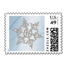 Crystal Snowflake Winter Postage Stamp