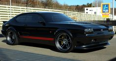 Ford Capri MK IV in Gloss Black with red stripes