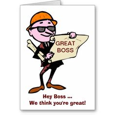 Happy Boss's Day with architect or draftsmen Card