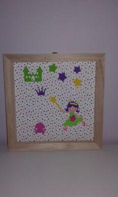 Fée rigolote , cadre en bois , sans vitre : Chambre d'enfant, de bébé par ma-marotte