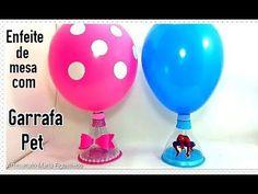 Como fazer enfeite de mesa para festa com material reciclável - Garrafa Pet /Ft. Compartilhando Arte - YouTube