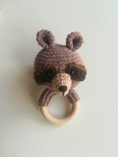 Crochet Wolf, Crochet Bear, Woodland Animals Theme, Woodland Baby, Babyshower, Baby Nursery Decor, Nursery Design, Owl, Wooden Baby Toys