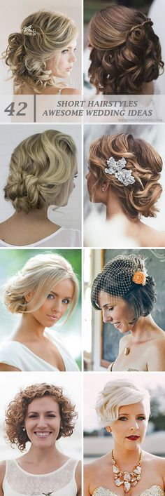 42 Short Wedding Hairstyle Ideas So Good You'd Want To Cut Your Hair ❤ If your short hairstyle is part of your individual style, then make it to highlight your image on the wedding day. See more: