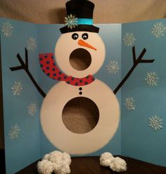 Kids Christmas Crafts - Mr. Singing Snowman and Pom-Pom Snowballs - Click Pic for 18 Christmas Party Ideas for School