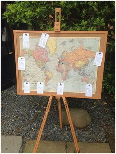 World Map Wedding Table Plan Used At Real Weddings