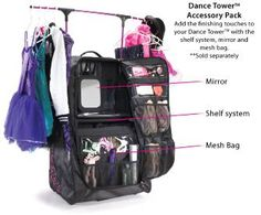 be24dc57bd9b Pack2Rack Rac n Roll-All About Attitude Dancewear - Rolling Dance Bags Dance  Competition Bag