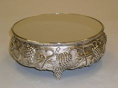 Ornate Silver Cake Stand. . . grapes.  Cakes By Graham, More than Just the Icing on the Cake.  http://richmondcakes.com/
