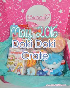 The May 2016 Doki Doki Crate review is here! This monthly subscription box made by Japan Crate is full of super kawaii merchandise from Japan!  USE CODE SAKURAOTAKU AT CHECKOUT TO RECEIVE $3 OFF YOUR FIRST CRATE!   Japan Crate   Doki Doki Crate   Kawaii   Japanese Candy   Subscription Box   Review   Japan   Sailor Moon   Unboxing  