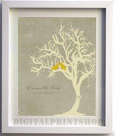 Love BirdsTREE n Bird SILHOUETTE with by DigitalPrintShop on Etsy