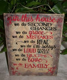 Tan We Do Family Inspirational Home Collage Wall Hanging Art Door Greeter Sign