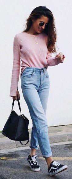 | Inverno - Tricô + Mom Jeans + Tênis!