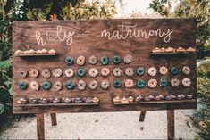 Donut Wall Wedding and Party Rental Party Decoration Rentals, Wedding Venue Decorations, Barn Wedding Venue, Wedding Rentals, Wedding Ceremony, Handmade Wedding, Diy Wedding, Wedding Ideas, Party Wedding