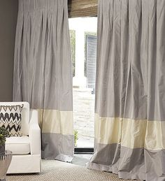 Hand Made The Parker Drape and Roman Blinds on Sale | DrapeStyle | 800-760-8257