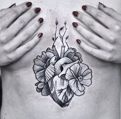 Sternum Tattoo Dotwork for You