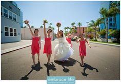 Cute Bridal Party Shot - San Diego Wedding Photographer, Wedding Portraits, Bridal Party Photo Ideas