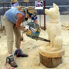 ABOUT CHAINSAW CARVING