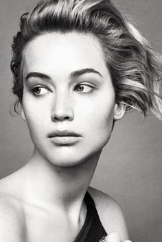 THIS! I love this photograph of Jennifer Lawrence for Dior. Her face looks so interesting and unknown here. Great photography.