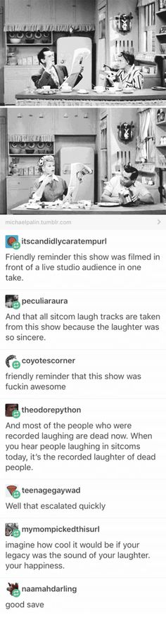 I Love Lucy, mother of the laughs for sitcom laugh tracks and all around hilarious show My Tumblr, Tumblr Posts, Tumblr Funny, Funny Quotes, Funny Memes, Hilarious, Funny Love, The Funny, I Love Lucy