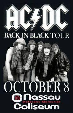 AC/DC Concert Poster https://www.facebook.com/FromTheWaybackMachine/