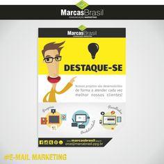 E-mail Marketing – Marcas Brasil > Desenvolvimento de e-mail marketing < #emailmkt #marcasbrasil #agenciamkt #publicidadeamericana