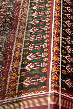 Ikat weave of a patola saree(Gujarat)...