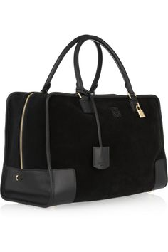 Loewe | Amazona large leather and suede tote | NET-A-PORTER.COM