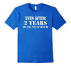 Men's Funny Anniversary Gifts For Him - 2 Years Anniversary Gifts 2XL Royal Blue